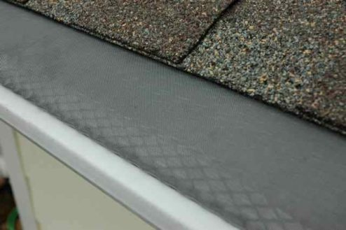 close up gutter guard